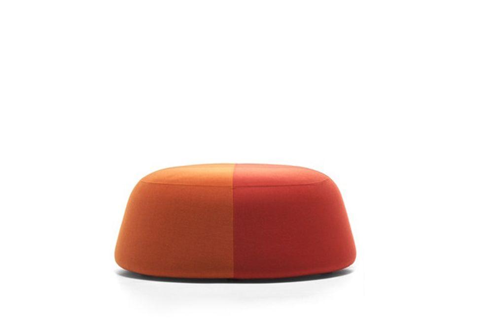 Nabuk_R822_COL_3401, 100cm,MDF Italia,Footstools,furniture,orange,stool