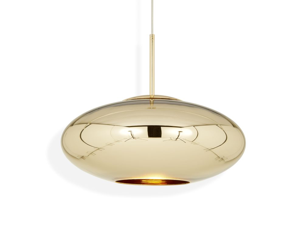 Copper Wide Pendant Lamp by Tom Dixon