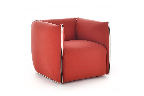 Maia_Avorio_R220_Col._2-2,MDF Italia,Armchairs,chair,club chair,furniture,orange,red