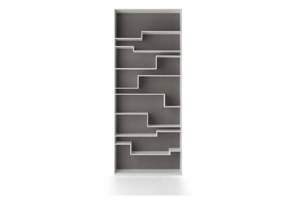 White Frame & Dove Grey Back,MDF Italia,Bookcases & Shelves,bookcase,furniture,rectangle,shelf,shelving