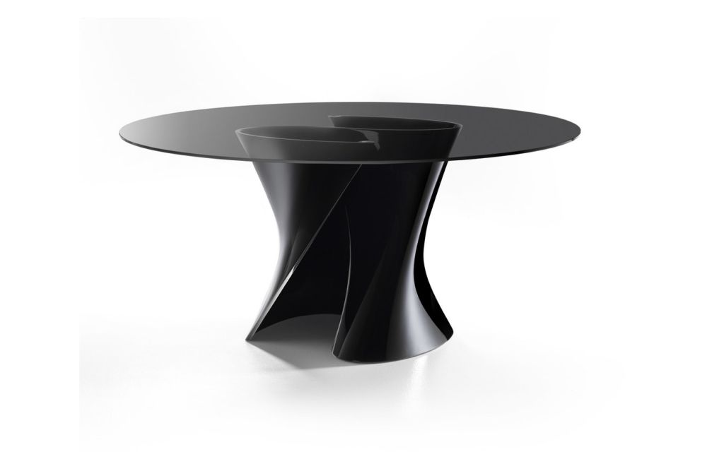 S Dining Table, Smoke Grey Top by MDF Italia