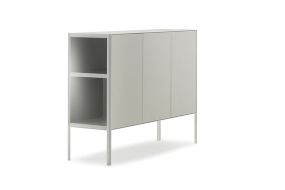 Ivory White Structure & Ivory White Side Panel, Ivory White,MDF Italia,Chest of Drawers,cupboard,furniture,shelf,shelving,sideboard,wardrobe