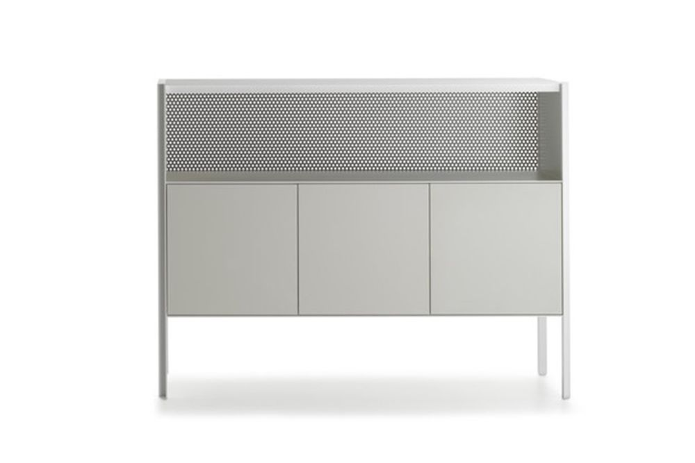 Heron Drawer Medium Unit, 3 Doors, Open Comparment by MDF Italia
