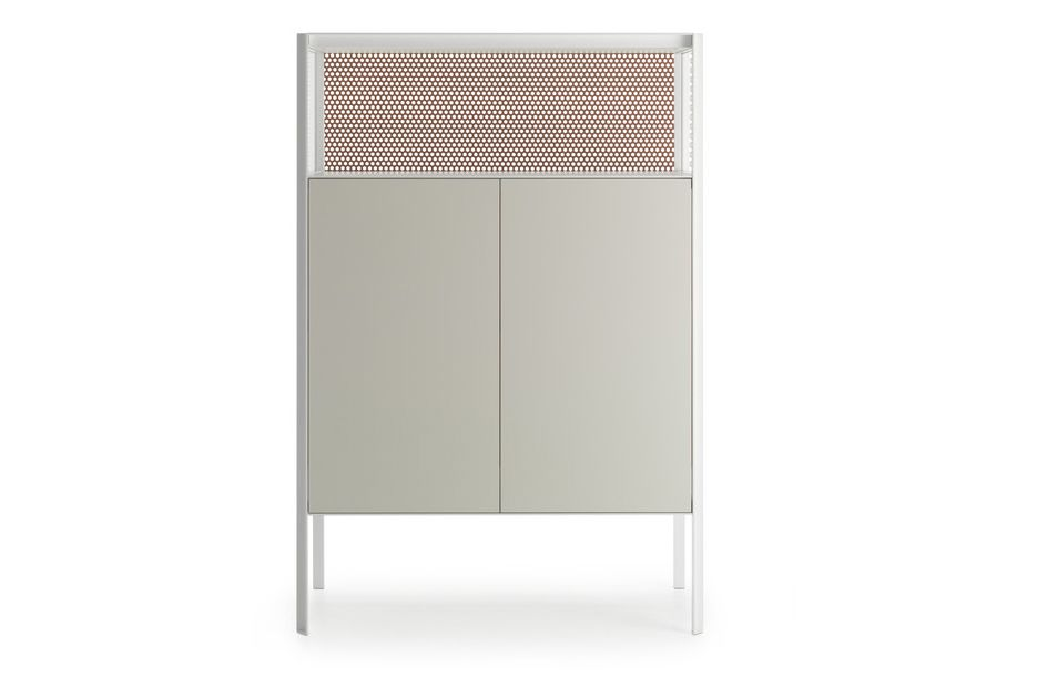 Heron Drawer High Unit, 2 Doors, Open Comparment by MDF Italia