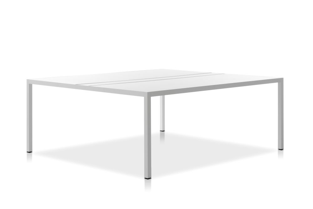 HPL Black Top & Matt Graphite Grey Frame, 180x220cm,MDF Italia,Office Tables & Desks,coffee table,desk,end table,furniture,outdoor table,rectangle,table