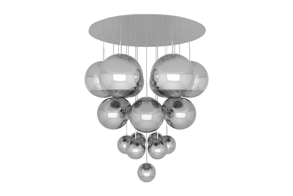 Gold,Tom Dixon,Pendant Lights,ceiling,ceiling fixture,chandelier,light fixture,lighting,silver,sphere