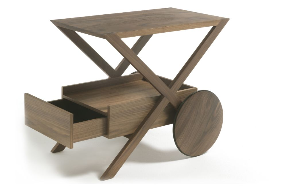 Cuoietto Naturale, Canaletta Walnut,Porada,Coffee & Side Tables,furniture,table,vehicle,wood