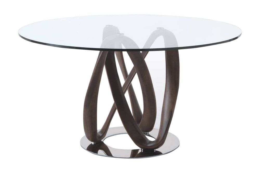 Natural Ash, Cristals Trasparente, Chrome Plated, 130cm,Porada,Dining Tables,coffee table,end table,furniture,material property,outdoor table,sofa tables,table