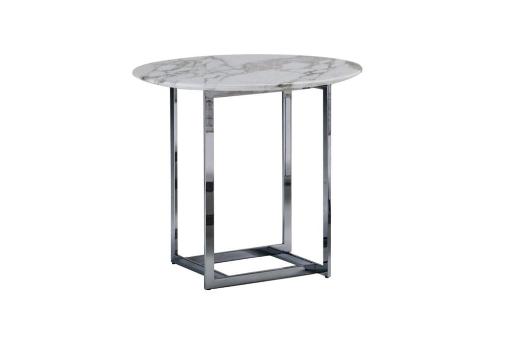 White Calacatta Oro, Chrome Plated, 45cm,Porada,Coffee & Side Tables,coffee table,end table,furniture,outdoor furniture,outdoor table,table