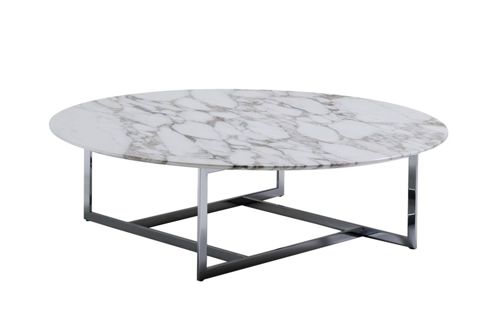 White Calacatta Oro, Chrome Plated,Porada,Coffee & Side Tables,coffee table,furniture,outdoor table,oval,table