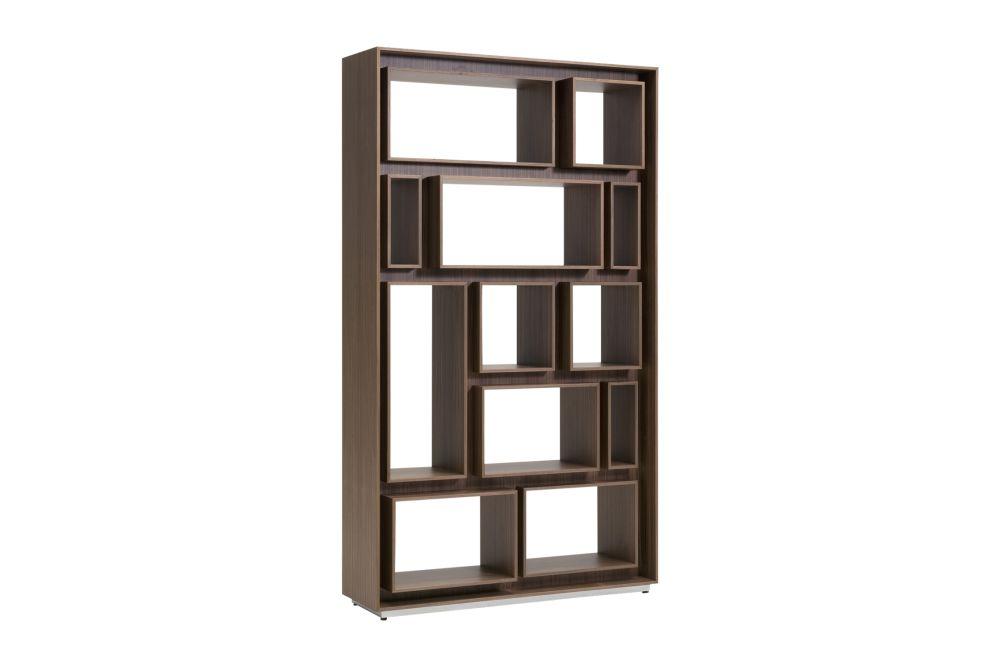 Canaletta Walnut,Porada,Bookcases & Shelves,bookcase,brown,furniture,shelf,shelving