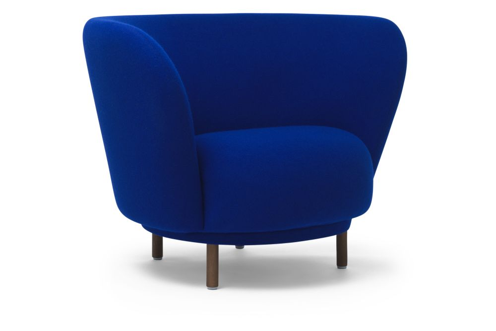 Walnut Stained Beech, Luna 2 Colour 04006,Massproductions,Armchairs,blue,chair,club chair,cobalt blue,electric blue,furniture
