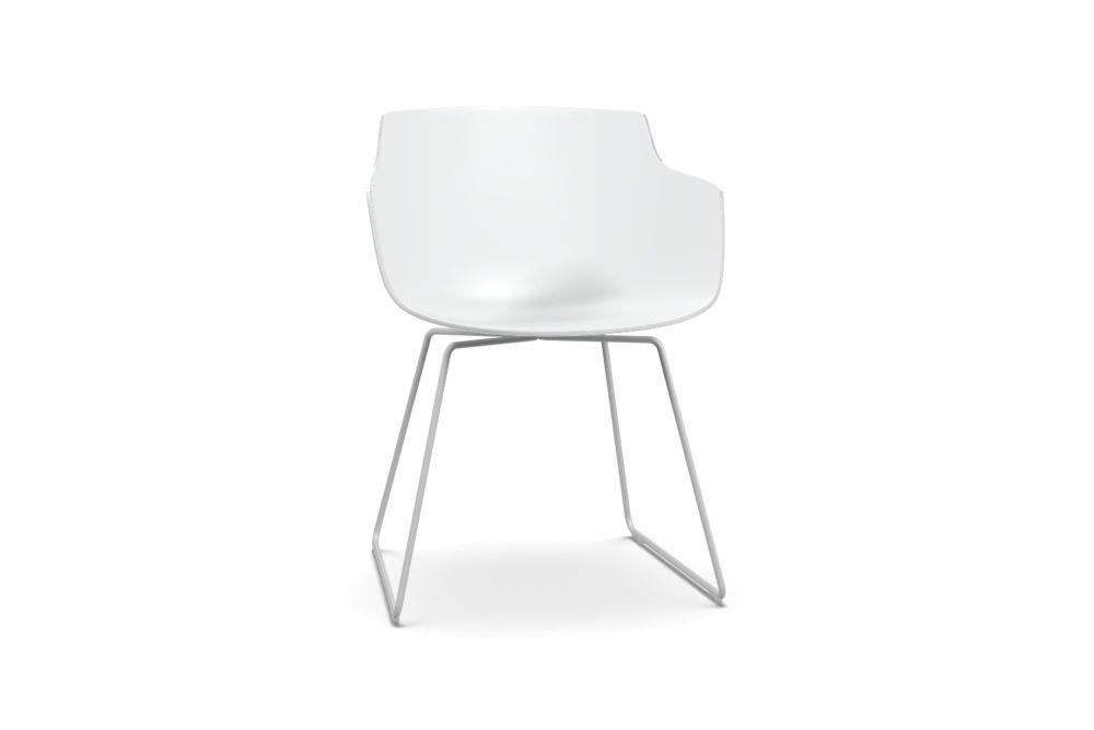 Flow Slim Chair, Sled Base by MDF Italia