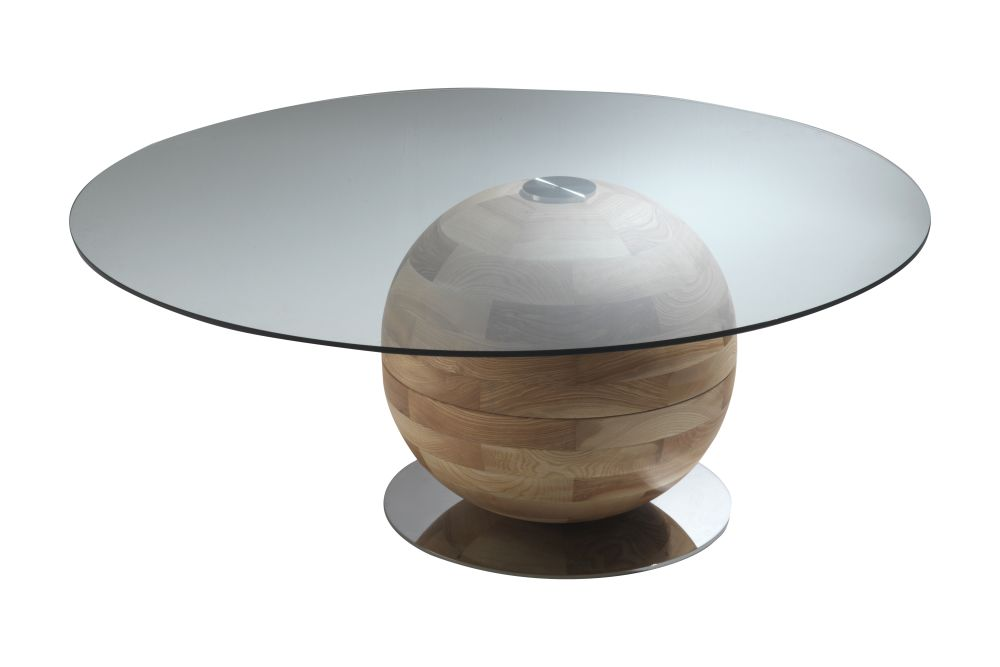 Clear Glass, Canaletta Walnut,Porada,Dining Tables,coffee table,furniture,table