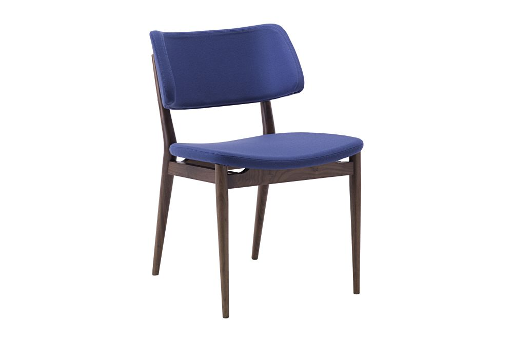 Canaletta Walnut, Nabuk 2115,Porada,Dining Chairs,chair,cobalt blue,electric blue,furniture
