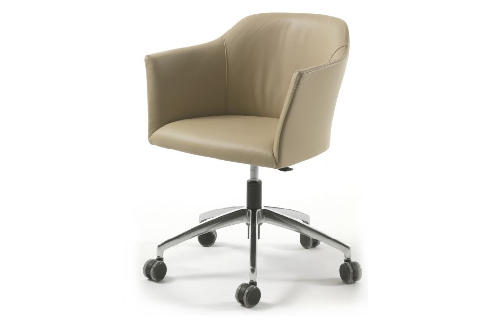 Nabuk 2115,Porada,Armchairs,beige,chair,furniture,line,material property,office chair,product