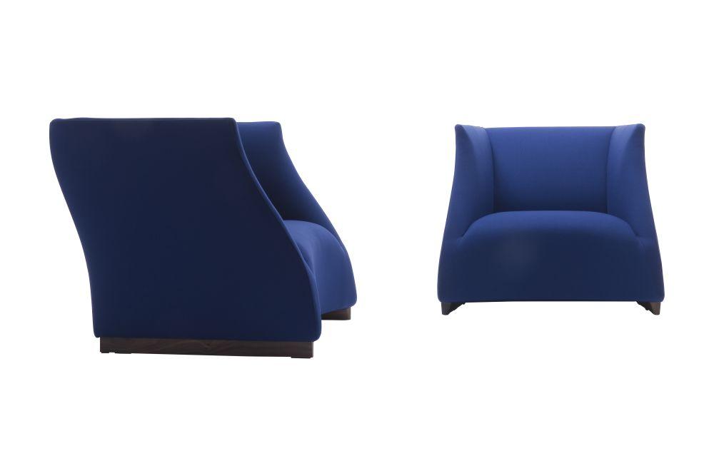 Canaletta Walnut, Nabuk 2115,Porada,Seating,blue,chair,cobalt blue,electric blue,furniture