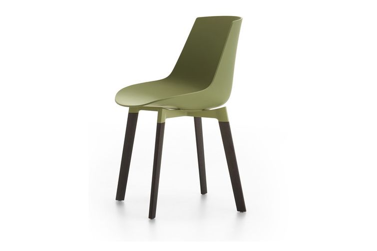 Flow Chair Color, 4 Legs Base Cross, Coupling Device - Soft Touch by MDF Italia