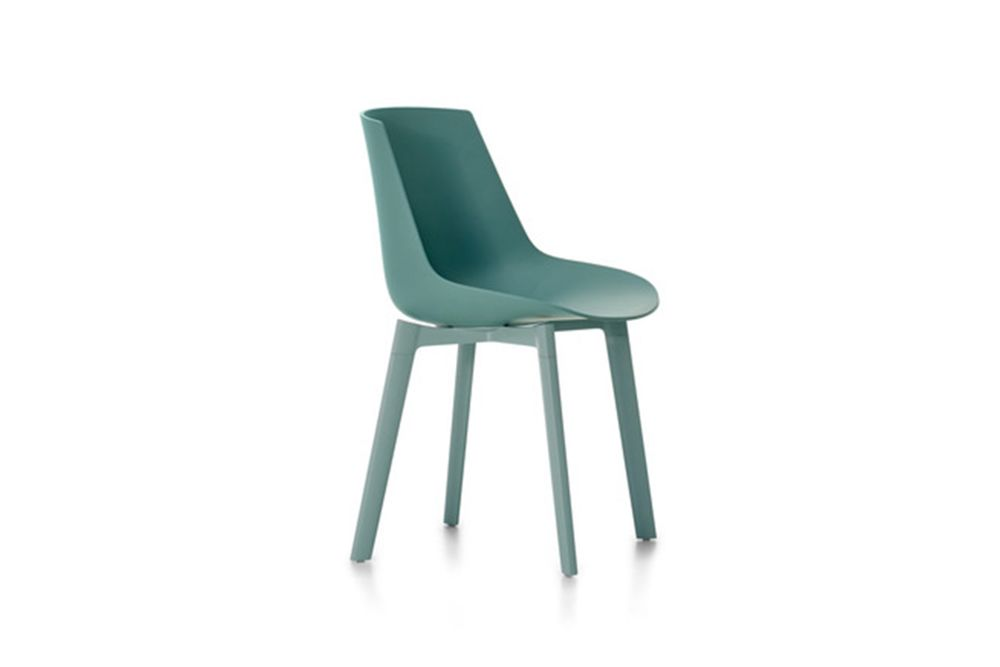 Flow Chair Color, 4 Legs Base Cross - Soft Touch by MDF Italia