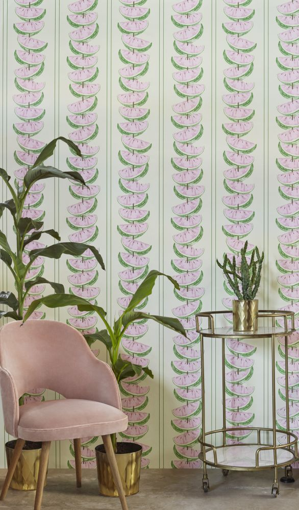 Charcoal,Barneby Gates,Wallpapers,flower,green,interior design,pink,plant,room,wallpaper