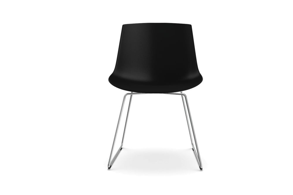 Black Shell & Graphite Grey Frame,MDF Italia,Dining Chairs,chair,furniture