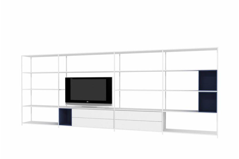 White,MDF Italia,Bookcases & Shelves,furniture,room,shelf,sideboard,wall