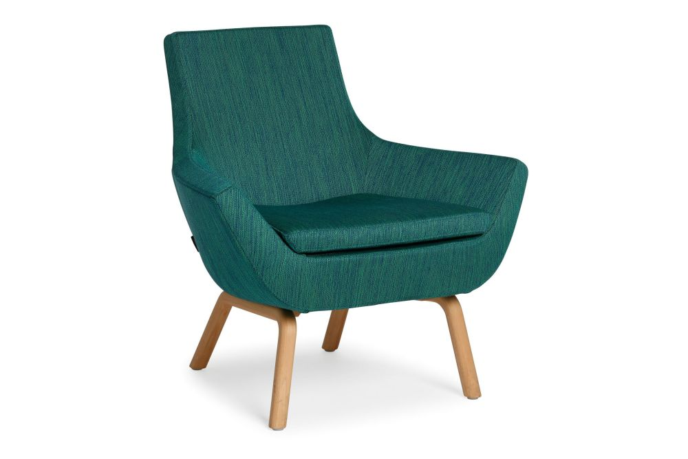 Happy Easy Chair Low Back Wood Base by Swedese