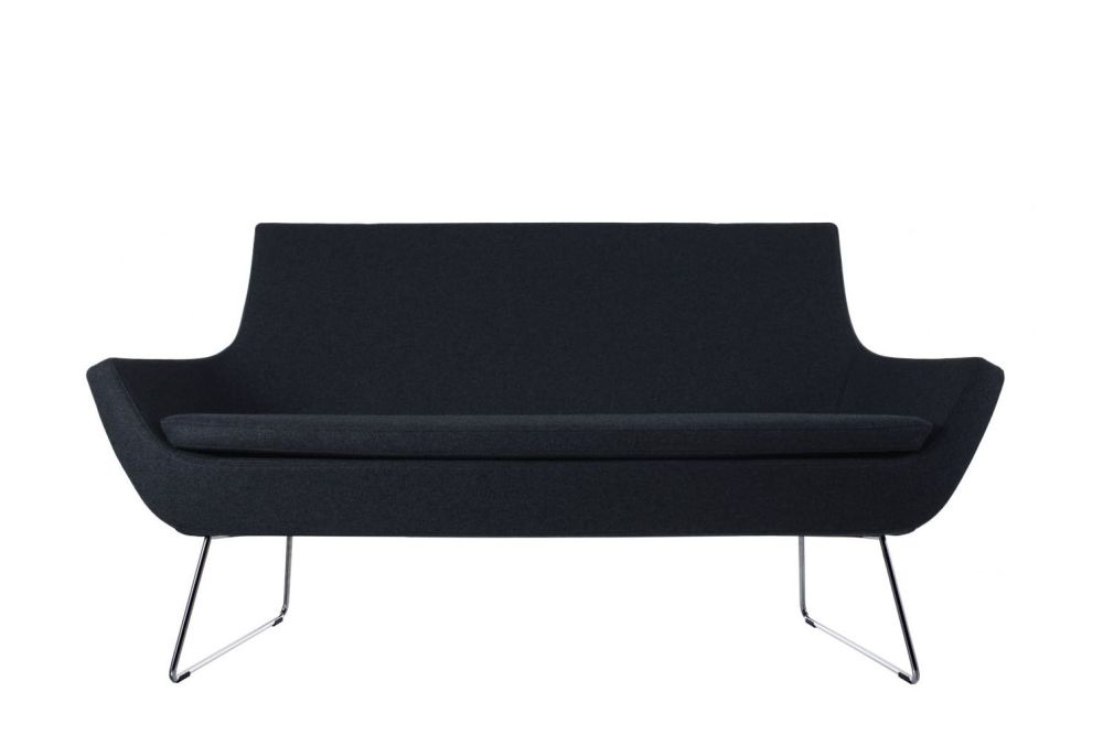 Happy Sofa Low Back Sled Base by Swedese