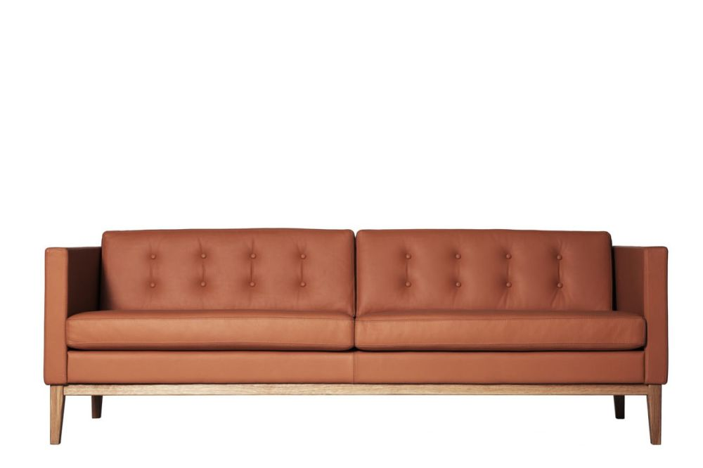 155, No, Without buttons, Main Line Flax Newbury,Swedese,Sofas,brown,couch,furniture,leather,outdoor sofa,room,sofa bed,studio couch,tan