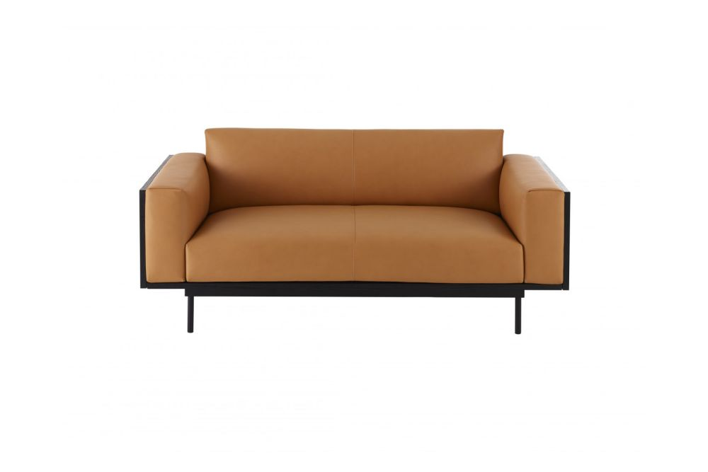 Oak Natural Lacquer, Black Steel, Main Line Flax Newbury,Swedese,Sofas,beige,brown,chair,couch,furniture,loveseat,orange,outdoor sofa,sofa bed,studio couch