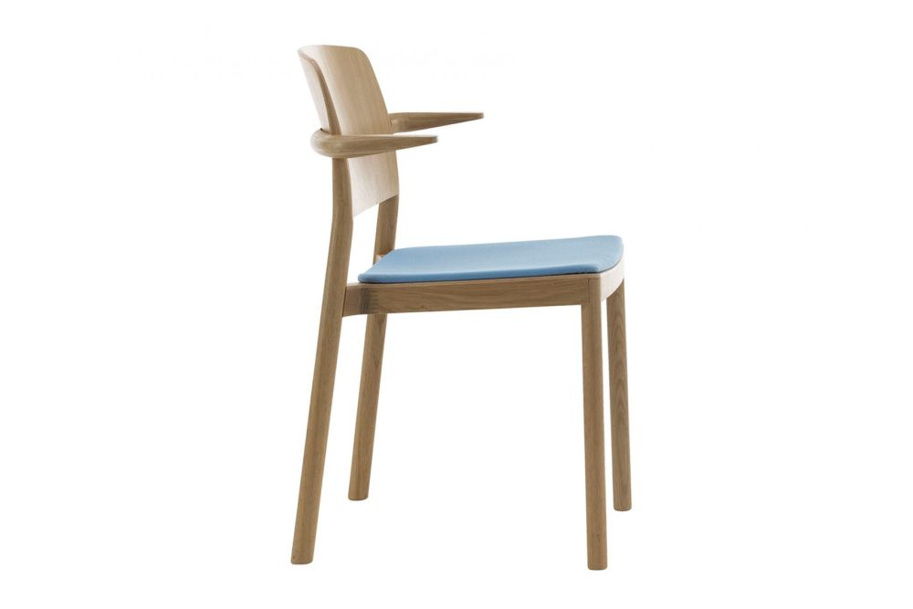 Grace Upholstered Armchair, Stackable by Swedese