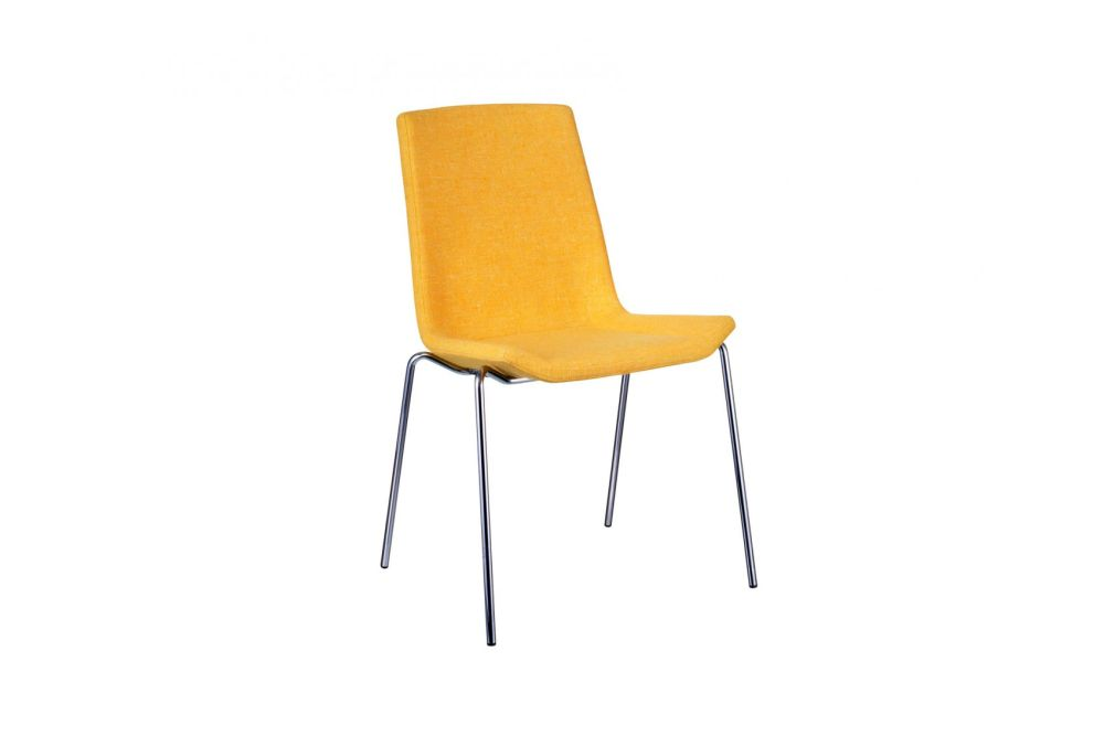 Happy Stackable Upholstered Chair by Swedese