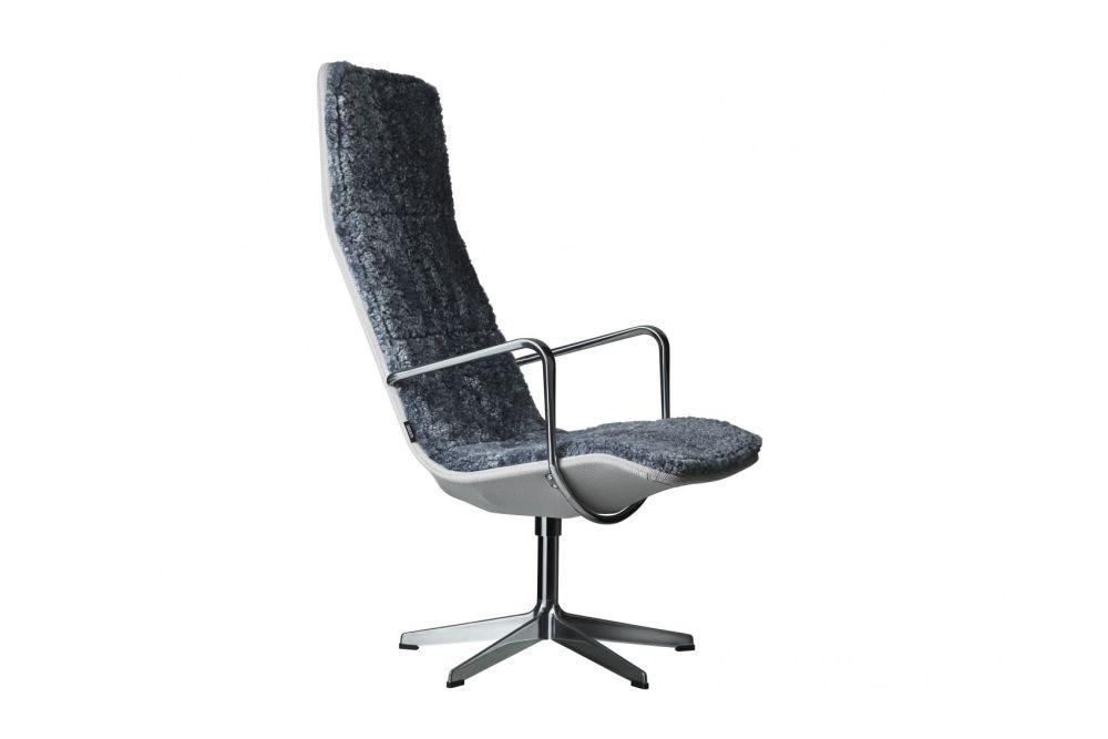 Kite Swivel Highback Chair Sheepskin by Swedese