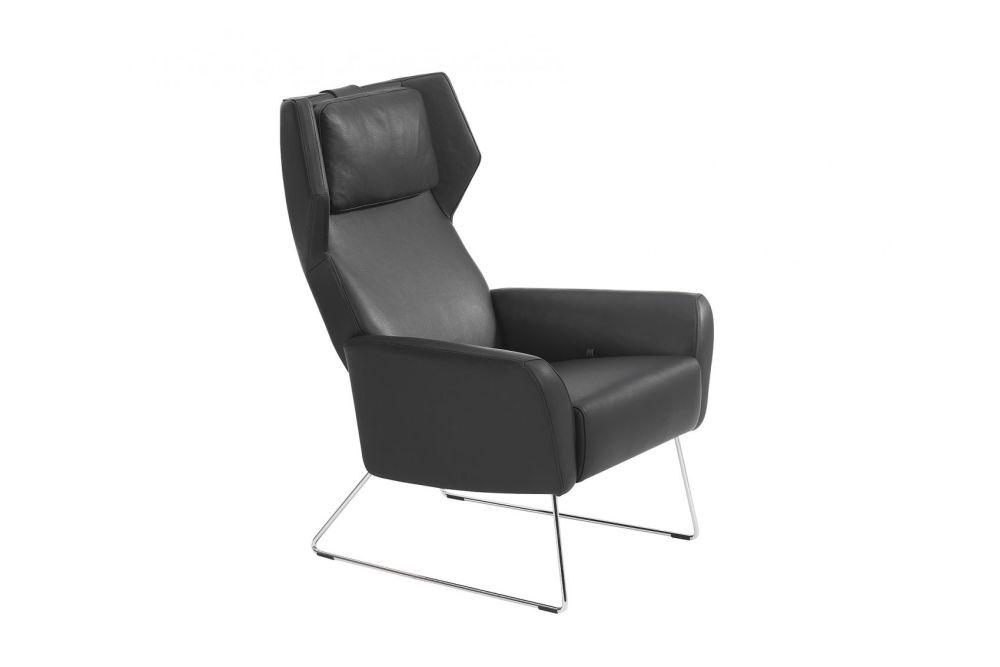 Black Steel, Main Line Flax Newbury,Swedese,Lounge Chairs,black,chair,club chair,furniture,leather