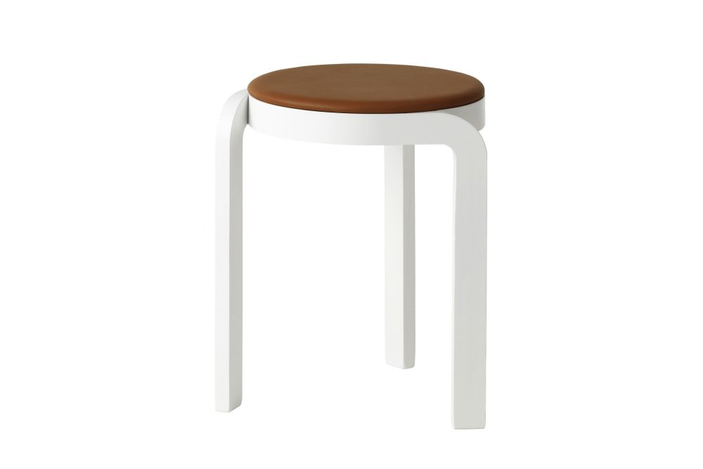 Spin Stackable Stool Upholstered Seat by Swedese