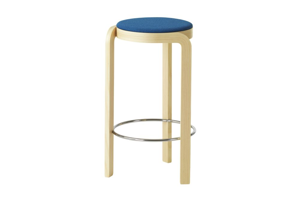 Spin Bar Stool Upholstered Seat by Swedese