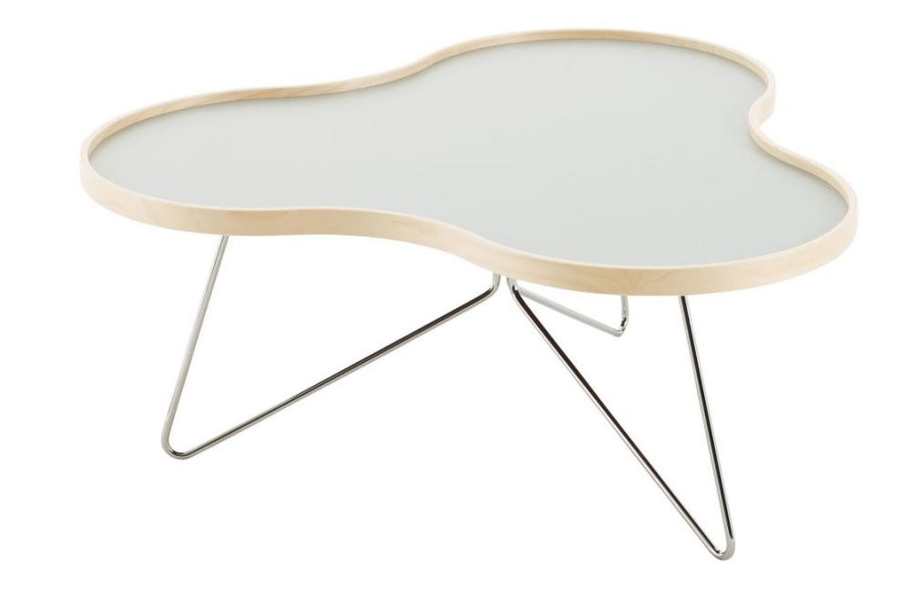 114 x 107, Black Steel, Birch Natural Lacquer, White Laminate,Swedese,Coffee & Side Tables,chair,coffee table,furniture,table