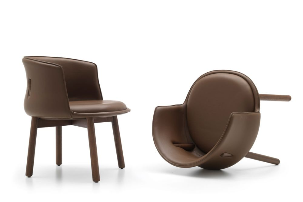 Frassino Ash Wood 113, Phill 600,Cappellini,Armchairs,brown,chair,furniture