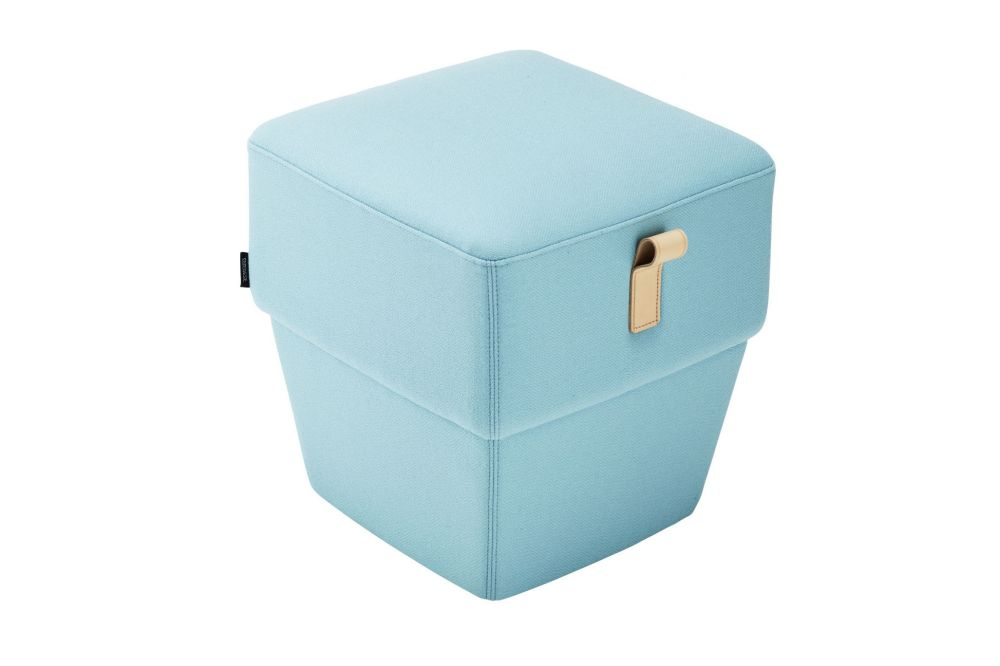 Konnekt Pouf with Leather Strap by Swedese