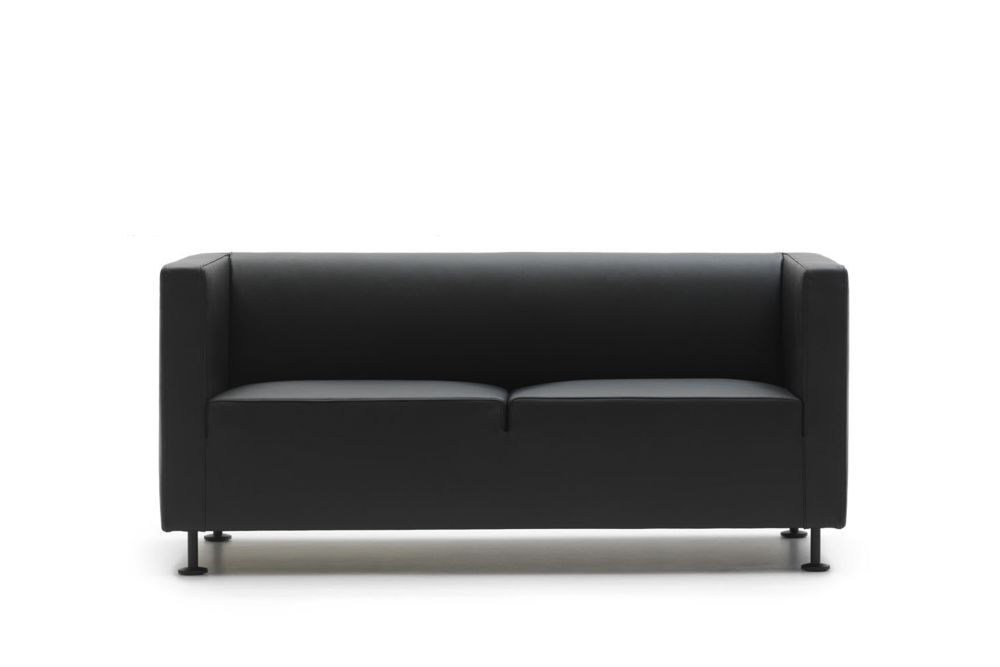 Phill 600,Cappellini,Sofas,black,couch,furniture,leather,loveseat,sofa bed