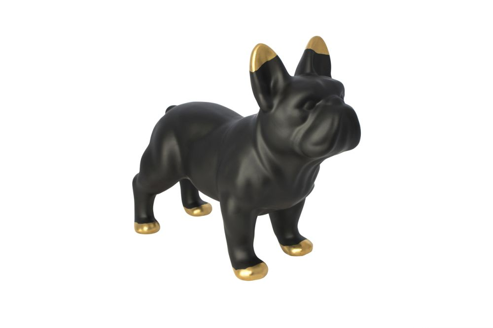 Black Ceramic Bulldog,Mineheart,Decorative Accessories,animal figure,bulldog,canidae,carnivore,companion dog,dog,dog breed,figurine,french bulldog,mammal,non-sporting group,snout,toy bulldog,vertebrate