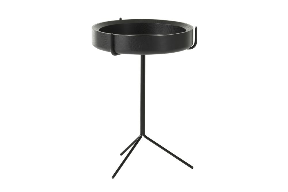 36 x 40, Black Steel, Ash Wood Natural Lacquer,Swedese,Coffee & Side Tables,furniture,product,table