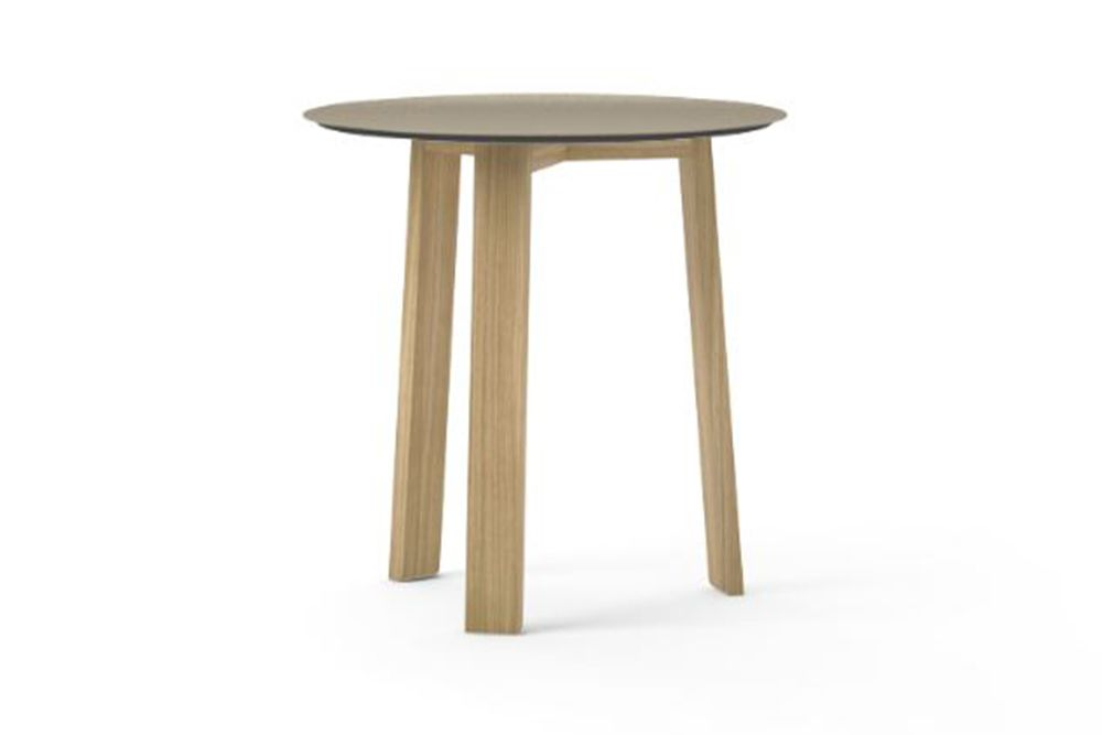 Gold Anodised Aluminium, Super-Matt Oak, 40.4cm,Punt,Coffee & Side Tables,furniture,outdoor table,stool,table