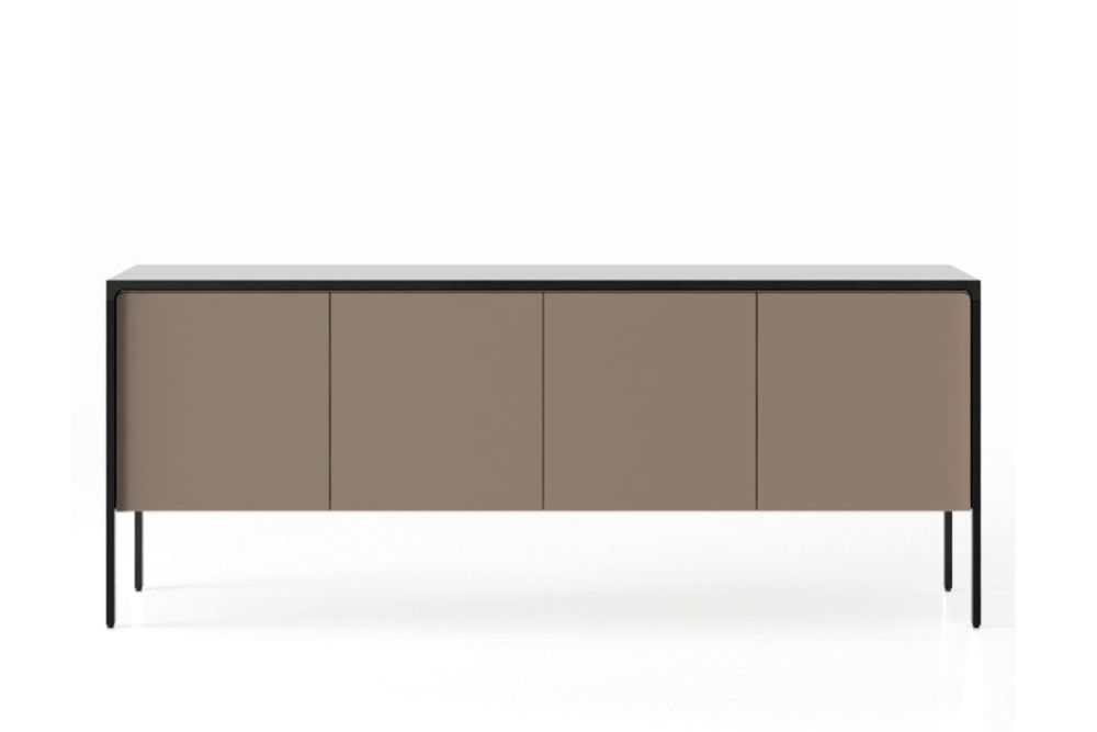 Ebony Stained Oak, Bronze Texturised Lacquered (cs6010-y10r),Punt,Cabinets & Sideboards,desk,furniture,rectangle,sideboard,table