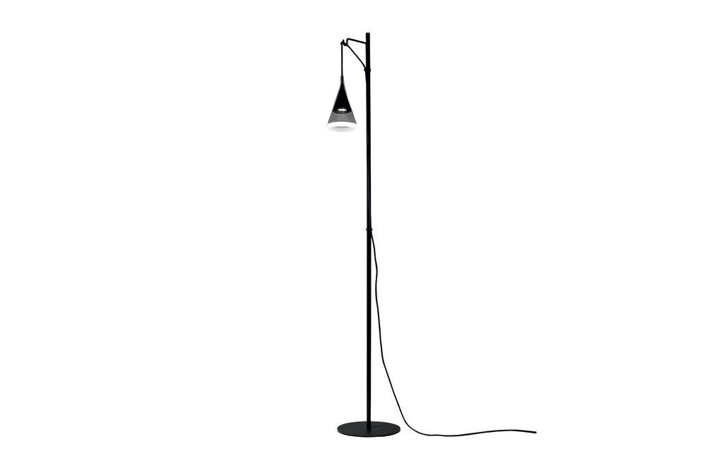 Black,Artemide,Floor Lamps,line,microphone stand