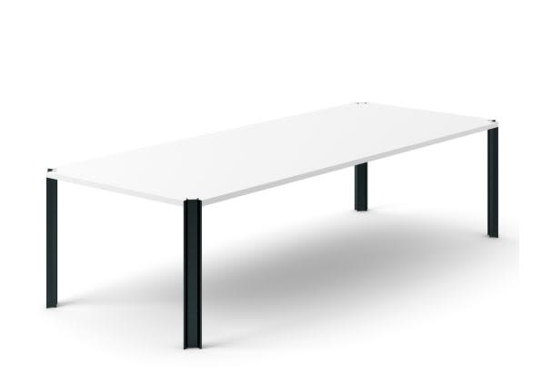 Super-matt Oak, Gold Anodised Aluminium, 150cm,Punt,Dining Tables,coffee table,desk,furniture,outdoor table,rectangle,sofa tables,table