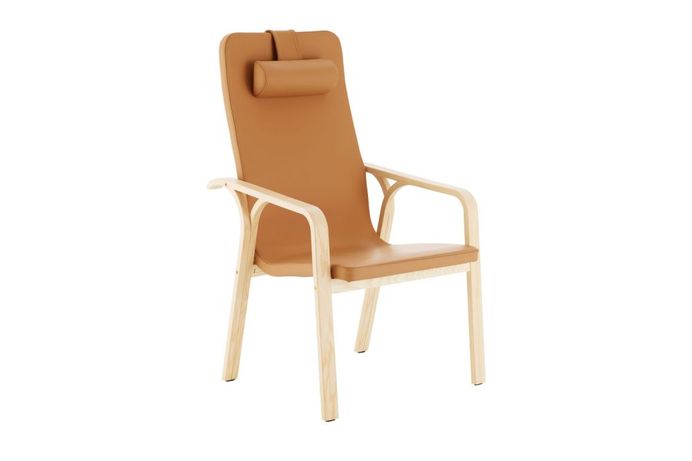 Mino High Back Easy Chair with Neck Cushion by Swedese
