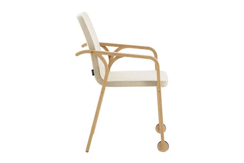 Mino Armchair with Wheels by Swedese