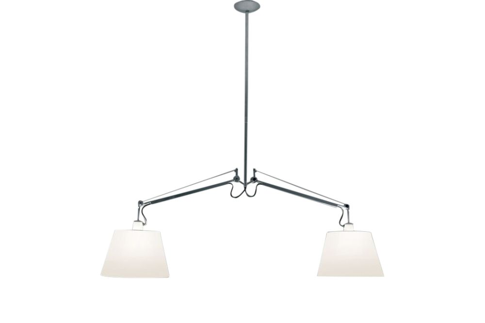 42 cm - grey satin,Artemide,Pendant Lights,ceiling,ceiling fixture,lamp,light fixture,lighting
