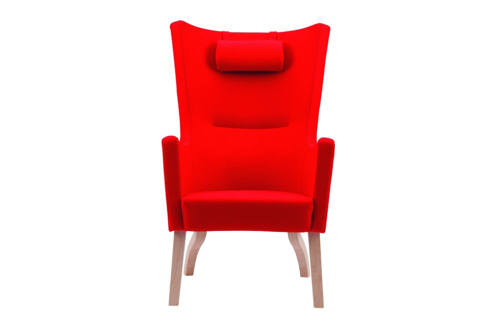Solino Highback Easy Chair Upholstered Frame - Wooden Legs by Swedese